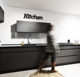 מטבח מודרני נאנו שחור