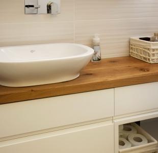 ארון אמבטיה לבן מודרני